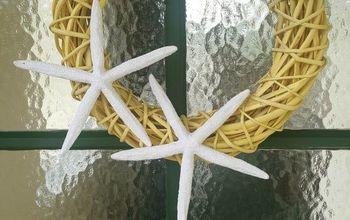 super easy diy starfish wreath