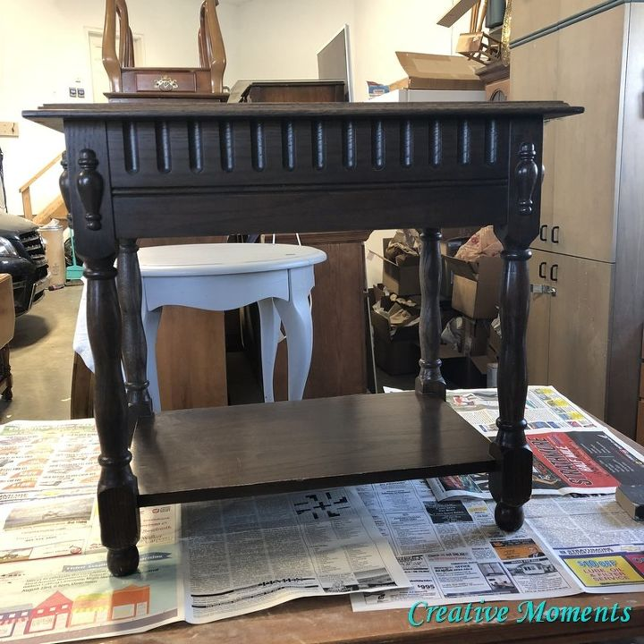 antique teal table