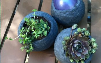 diy mini cement balloon planters