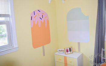 DIY Jumbo Popsicle Wall Art