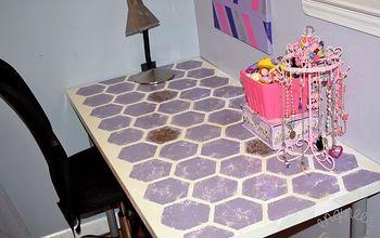 DIY Purple Hexagon Desk