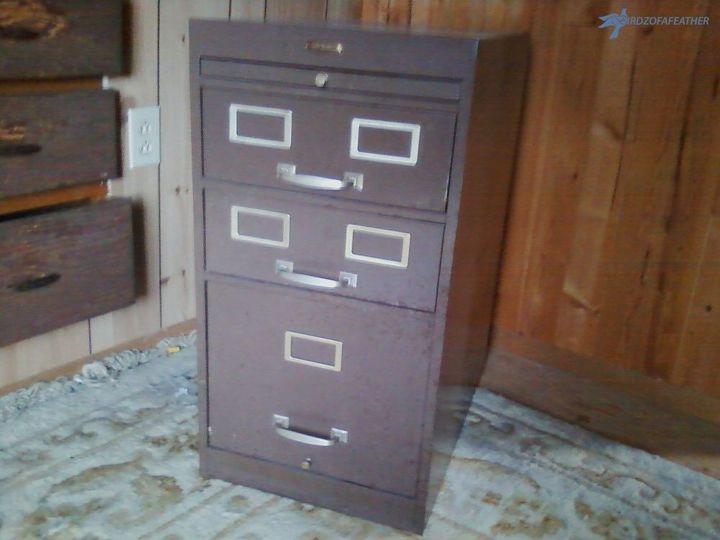 retro filing cabinet makeover