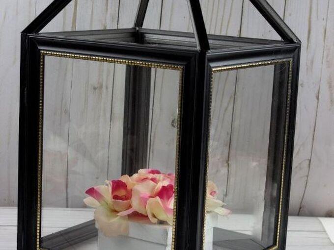 diy picture frame lantern craft