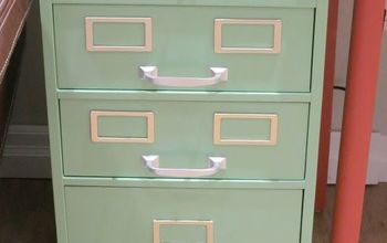 retro filing cabinet makeover