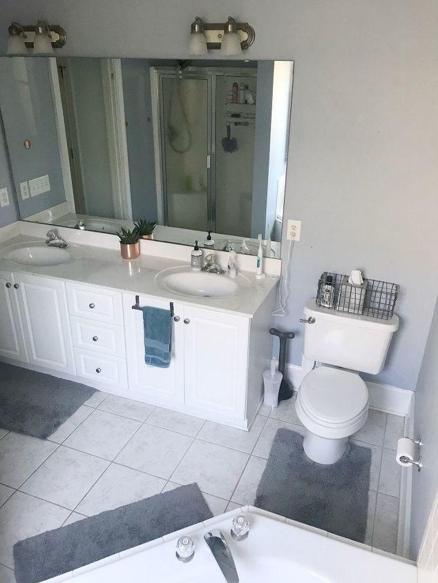 coastal farmhouse bathroom refresh