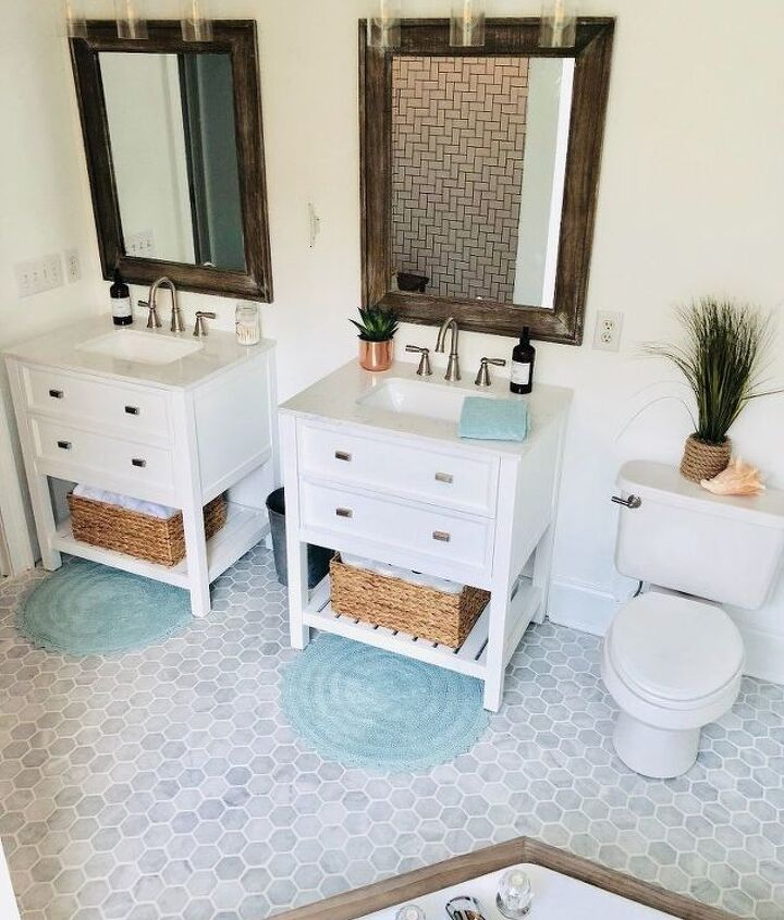 coastal farmhouse bathroom refresh