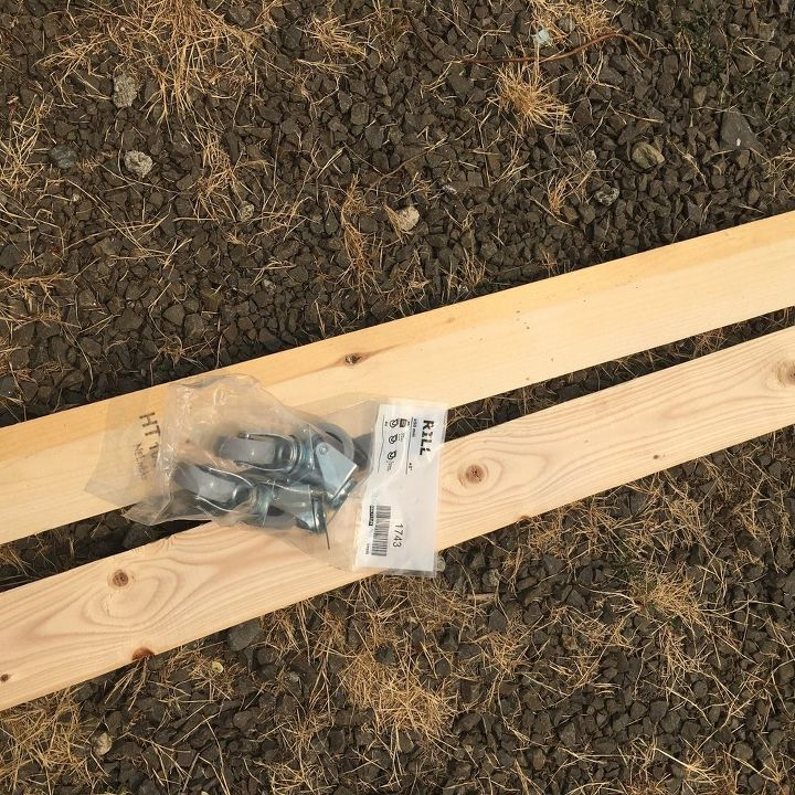 wooden rolling cart
