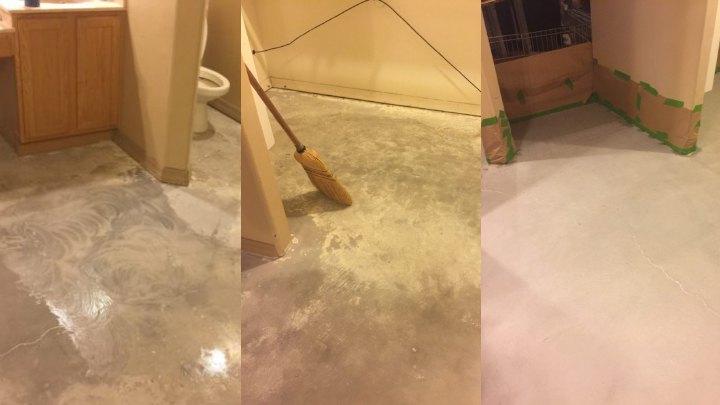 Diy Concrete Floor Remodel With Acid