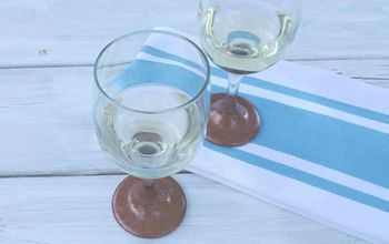 DIY Hammered Copper Stemware and Charger Plates