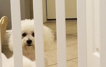 Baby Crib Transformed Into Fur Baby Gate