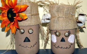 easy to make mr mrs scarecrow mason jars