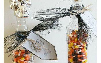 dollar store halloween crafts skull candy jar