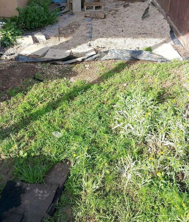 how to make a gravel patio