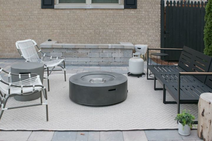 how to hide a propane tank from your outdoor fire pit