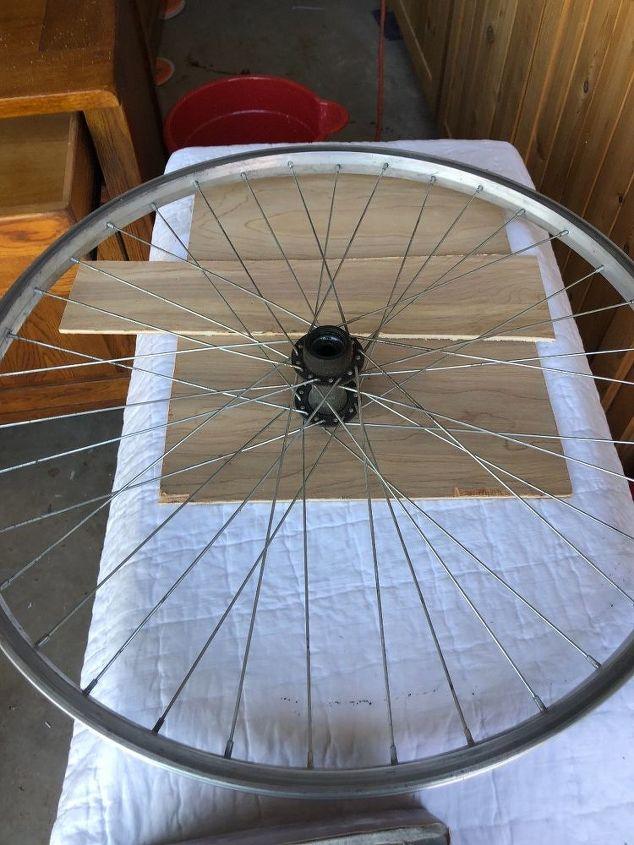 bike wheel wreaths