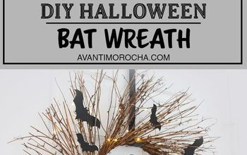 DIY Halloween Bat Wreat