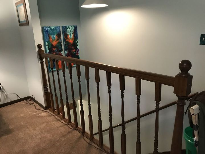 q how to replace stair bannisters