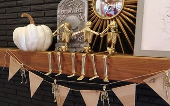 dollar store hack easy halloween gold skeleton decor