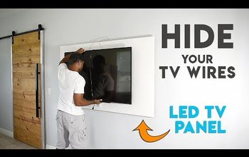 how to hide tv cables with a diy led tv panel