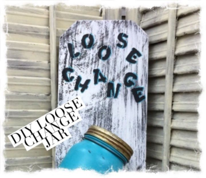 diy loose change jar for the laundry room