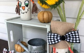 scarecrow bottle fun fall decor