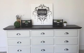 free dresser recieves a superior paint co shiplap makeover