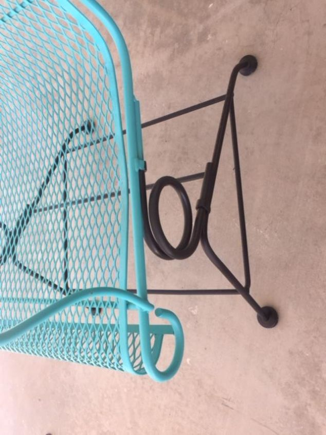 rusty crusty chair makeover