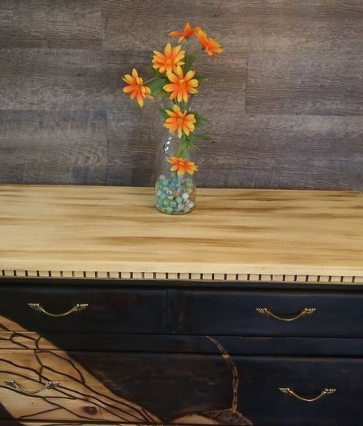 beeutiful stained shaded dresser makeover