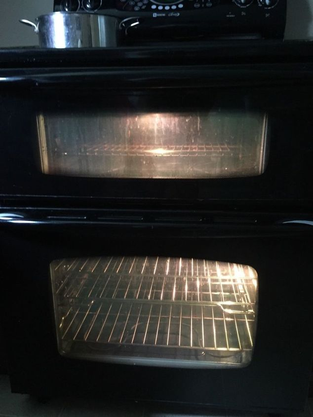 q how to clean between the oven glass windows