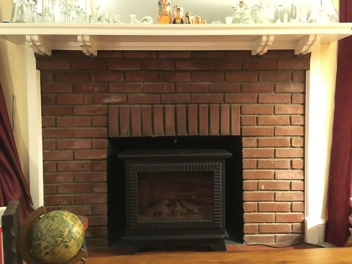 q how do you paint a brick fireplace