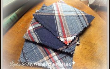 flannel shirt fall coasters