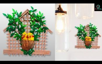 how to make bird nest craft with empty plastic bottle