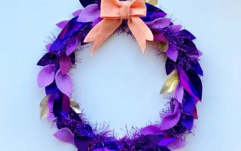 diy colorful fall wreath