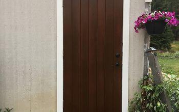 Old Exterior Cedar Door Makeover Using Saman Stains & Varnish