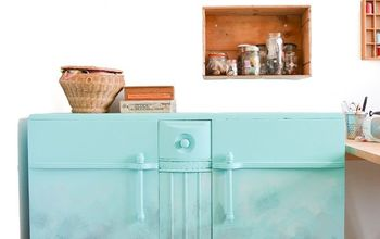old sideboard transformed with ombre effect