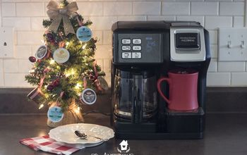 how to make a k cup christmas tree with reusable ornament hangers