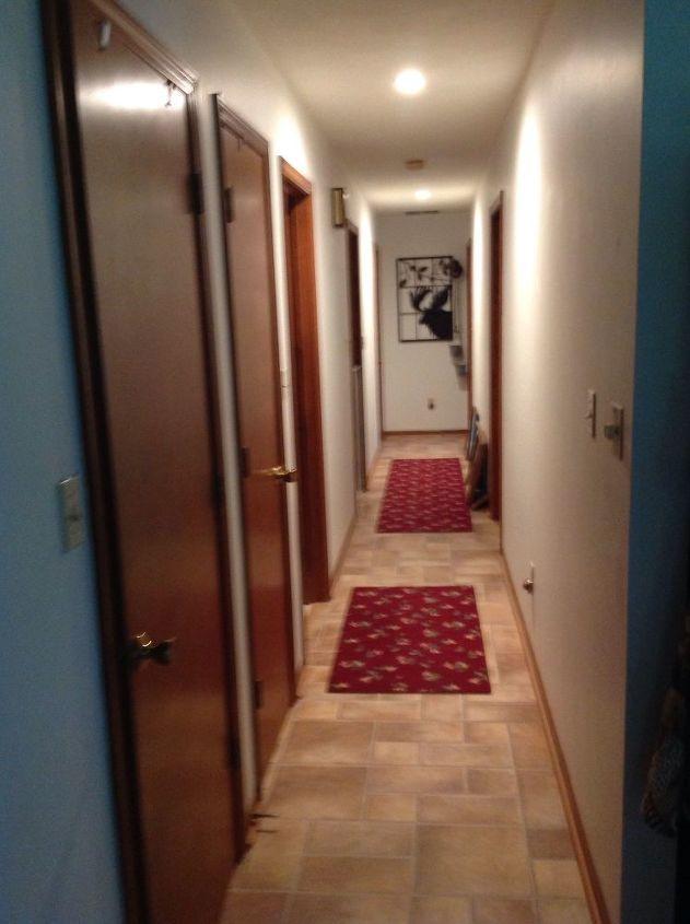 q how to enhance a 30ft hallway w many birch doors