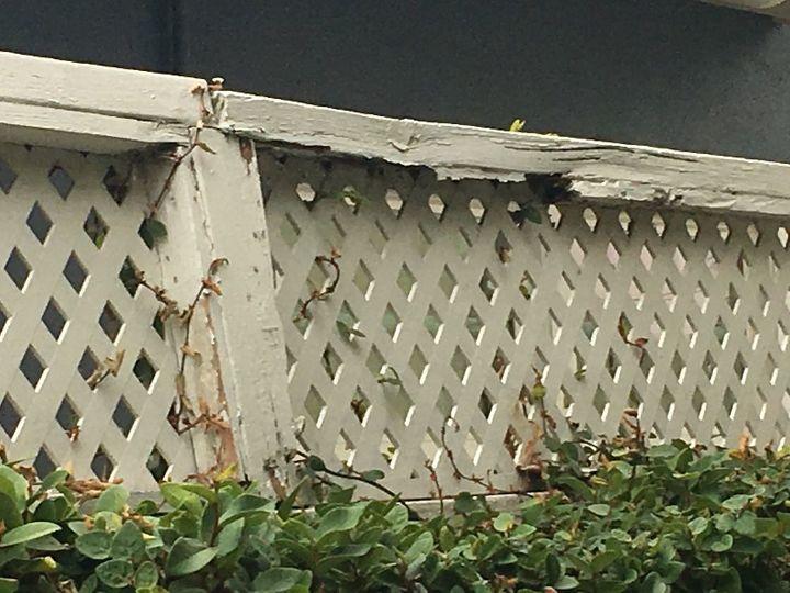 q how do repair fence topper