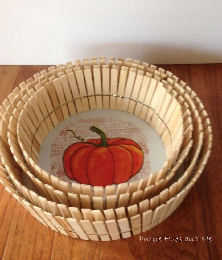 let s make a clothespin basket