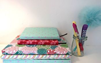 how to make easy fabric covered books