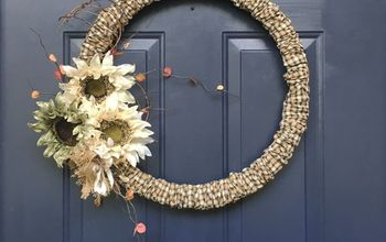 A Simple Fall Wreath