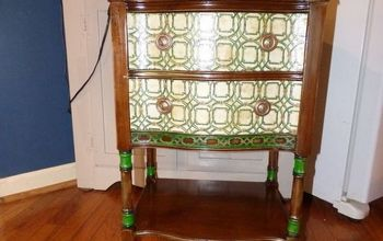 Cute Little Side Table With Decoupage Napkins.