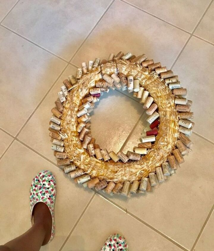 a unique timeless wine cork wreath that will stand test of time