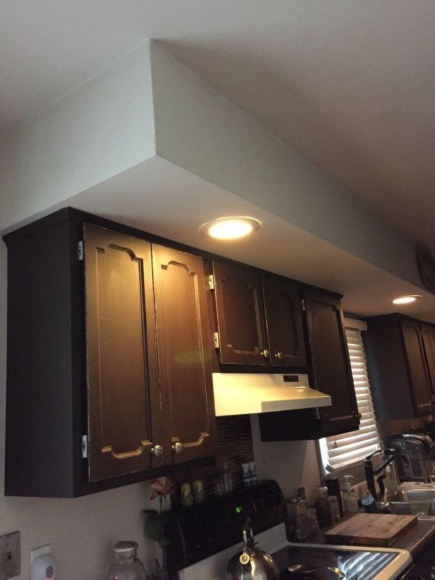 q how do i make large kitchen bulkhead more attractive