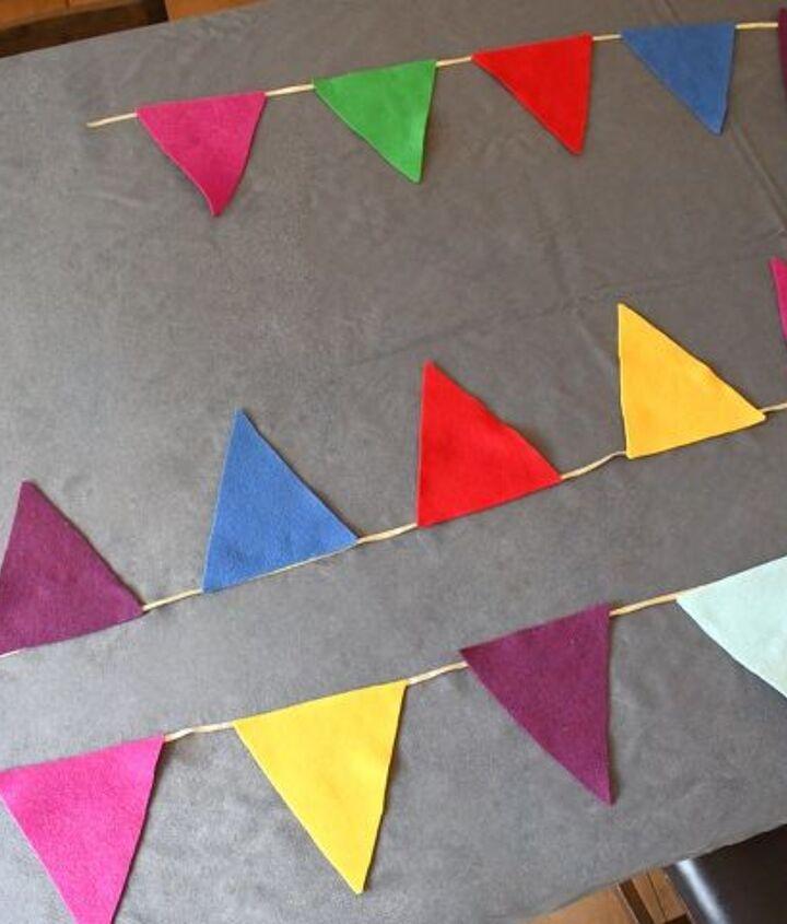 easy diy felt pennant banner