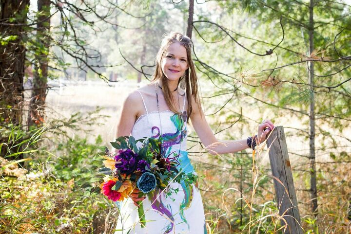 how i trashed my wedding dress with color without destroying it
