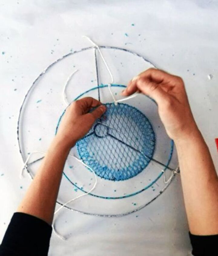 anthropologie fringe chandelier tutorial