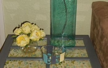 upcycled glass door