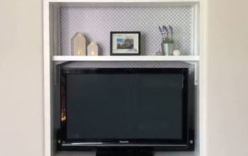 upcycle a built in entertainment center