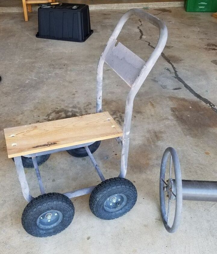 diy garden cart made from hose spool cart